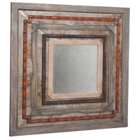 Tin 46 X 46 inch Natural Rustic Wall Mirror Home Decor, Square
