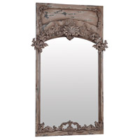 Carved Trumeau 72 X 38 inch Euro Plaster Wall Mirror