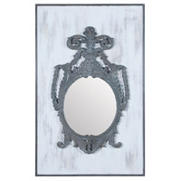 Champagne 60 X 38 inch Antique Smoke with Front Porch White Wall Mirror