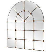 Gilded Arch 49 X 40 inch Black Wall Mirror Home Decor