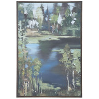 Guildmaster 1615507 Mountain Lake 36 X 24 inch Painting, Hand Painted Waterscape