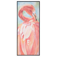Pink Flamingo Hand-Painted Wall Art