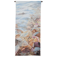 Sea Foam And Shells 57 X 26 inch Tapestry