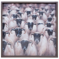 Counting Sheep Antique Smoke Wall Art