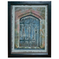 Architectural Door V Antique Smoke Wall Art