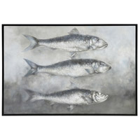 Cast Ones Net Grain De Bois Noir Wall Art