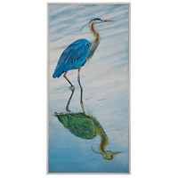 Blue Heron Hand-Painted Wall Art