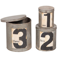 Tins Rustic Tin Box/Canister
