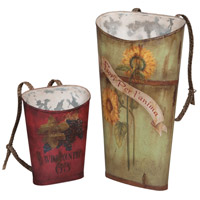 Tin 36 X 20 inch Wine Baskets, Set of 2