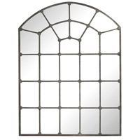 Parisian Loft 71 X 54 inch Aged Iron Wall Mirror Home Decor, Window Pane