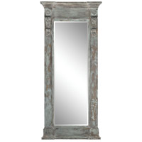 Neo Classical 93 X 41 inch Aged Wood and Patina Wall Mirror Home Decor, Column