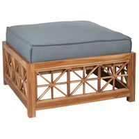 Teak Lattice 32 X 32 inch Grey Outdoor Ottoman Cushion, Square