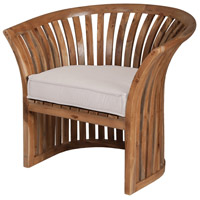Teak 23 X 21 inch Cream Outdoor Barrel Chair Cushion