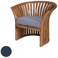 Teak 23 X 21 inch Navy Outdoor Barrel Chair Cushion