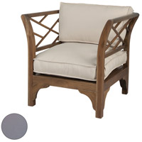 Teak Patio Grey Outdoor Chair Cushion
