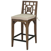 Teak Patio 20 X 18 inch Cream Outdoor Barstool Cushion