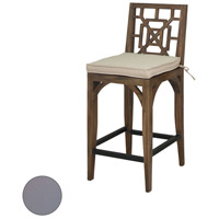Teak Patio 20 X 18 inch Grey Outdoor Barstool Cushion
