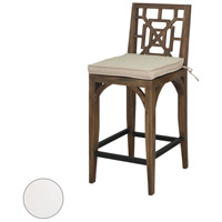 Teak Patio 20 X 18 inch White Outdoor Barstool Cushion