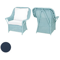 Rattan 24 X 22 inch Navy Outdoor Patio Chair Cushion, Set of 2
