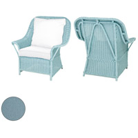 Rattan 24 X 22 inch Sea Green Outdoor Patio Chair Cushion, Set of 2