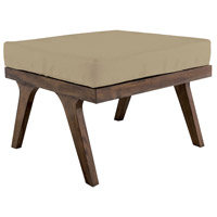Teak 24 X 24 inch Cream Outdoor Ottoman Cushion, Square