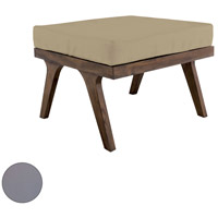 Teak 24 X 24 inch Grey Outdoor Ottoman Cushion, Square