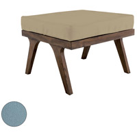 Teak Sea Green Outdoor Ottoman Cushion, Square