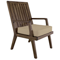 Teak 20 X 18 inch Cream Outdoor Arm Chair Cushion