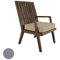 Teak 20 X 18 inch Grey Outdoor Arm Chair Cushion