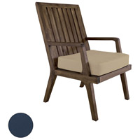 Teak 20 X 18 inch Navy Outdoor Arm Chair Cushion
