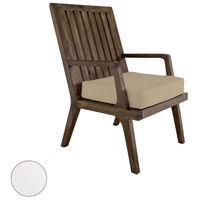 Teak 20 X 18 inch White Outdoor Arm Chair Cushion