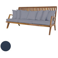 Teak 26 X 20 inch Navy Outdoor Sofa Cushion, Set of 10
