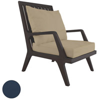 Teak Patio 24 X 23 inch Navy Outdoor Lounge Chair Cushion, Set of 2