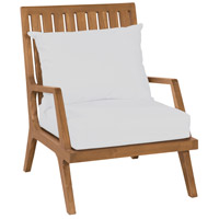 Teak 24 X 23 inch White Patio Lounge Chair Cushions, Set of 2