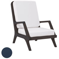 Teak Garden Navy Outdoor Lounge Chair Cushion, Set of 2