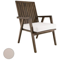 Teak Garden 22 X 21 inch Cream Outdoor Patio Chair Cushion