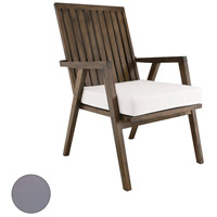Teak Garden 22 X 21 inch Grey Outdoor Patio Chair Cushion