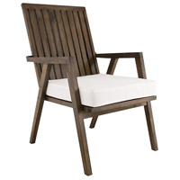 Teak Garden 22 X 21 inch White Outdoor Patio Chair Cushion