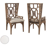 Teak 22 X 21 inch White Outdoor Wing Back Chair Cushion