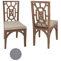 Teak Garden 21 X 19 inch Grey Outdoor Dining Chair Cushion