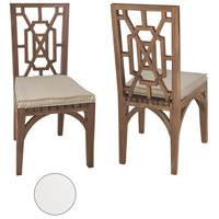 Teak Garden 21 X 19 inch White Outdoor Dining Chair Cushion