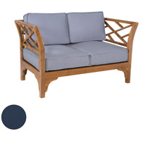 Patio Branch 45 X 26 inch Navy Outdoor Love Seat Cushion, Set of 4