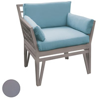 Newport Gray Outdoor Chair Cushion, Set of 4