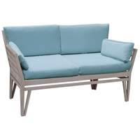 Newport 26 X 20 inch Sea Green Outdoor Love Seat Cushion