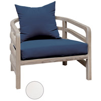 Linley White Outdoor Chair Cushion, Set of 2