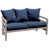 Linley 31 X 30 inch Navy Outdoor Love Seat Cushion, Set of 5