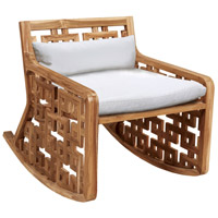 Matts 24 X 23 inch White Outdoor Rocking Chair Cushion
