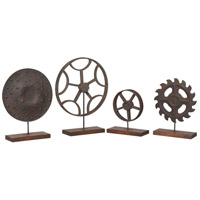 Guildmaster 251518S Wheels Go Round 19 X 15 inch Ornamental Sculpture, Set of 4