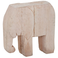 Wooden Elephant Hand-Painted Ornamental Accessory