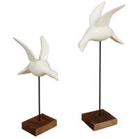 Birds in Flight White Ornamental Accessory